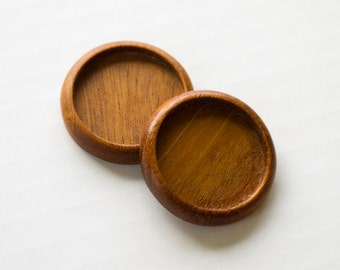 Mixed media bezel trays hardwood finished - Mahogany - 25.5 mm cavity - (Z253c-M) - Set of 2