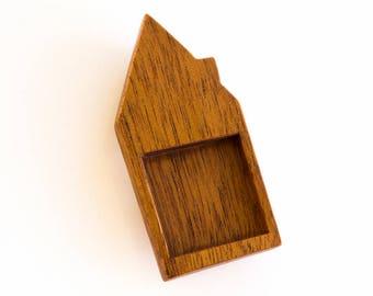"""House bezel tray fine finished hardwood - Varios wood types - 1"""" - 25.5 mm cavity side - (H3-X)"""