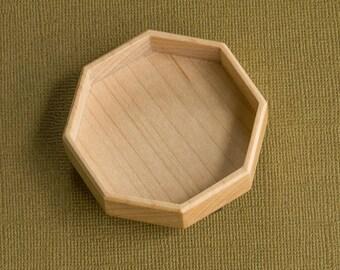 Fine finished deep octagonal bezel - Sailors Valentine - Maple - 55 mm overall diam. - (F85-Mp)