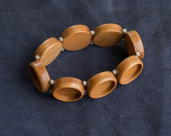 MADE TO ORDER - Bracelet blank bezel settings finished hardwood - 18 mm - (Z18c) - Set of 3, 5, 8 or 9 ea
