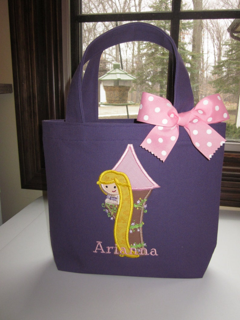 TOTE BAG Rapunzel Personalized Toddler or Big Kid Tote