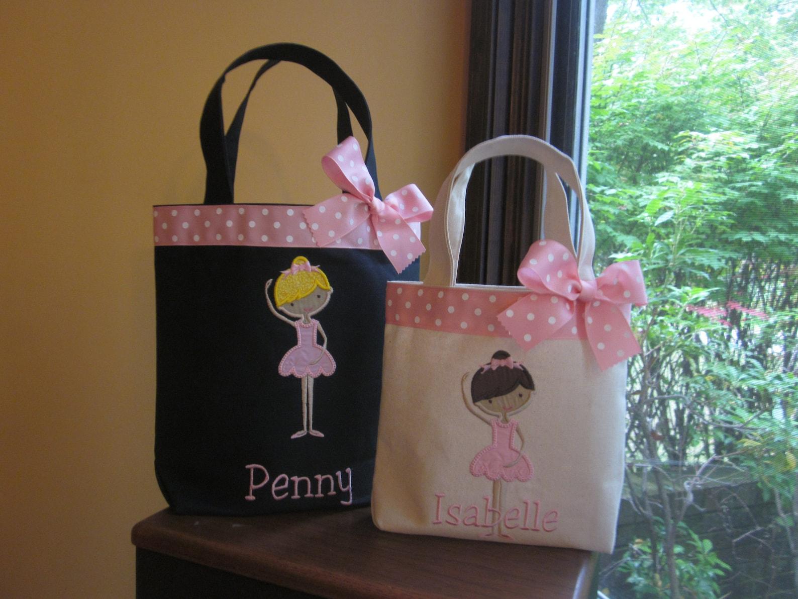 tote bag darling african american ballet dancer toddler or big kid dance bag