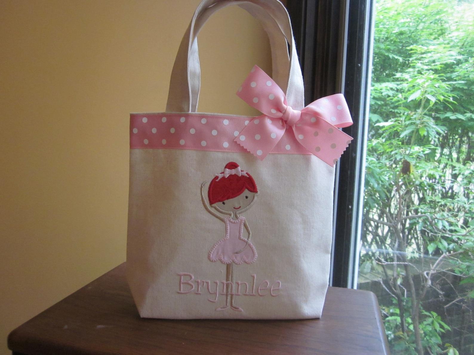 tote bag darling ballet dancer toddler or big kid dance bag