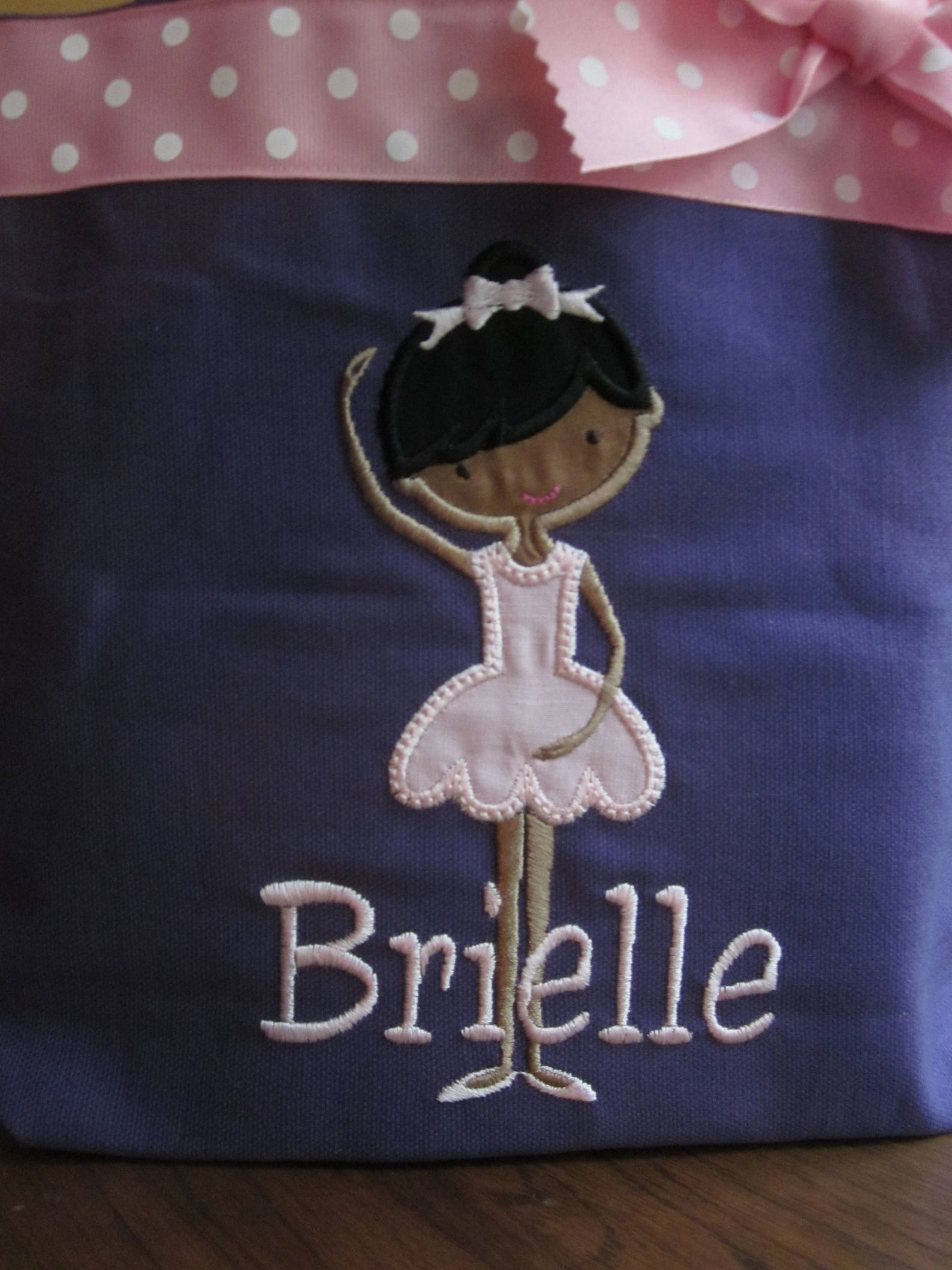 tote bag darling african american ballet dancer toddler or big kid dance bag