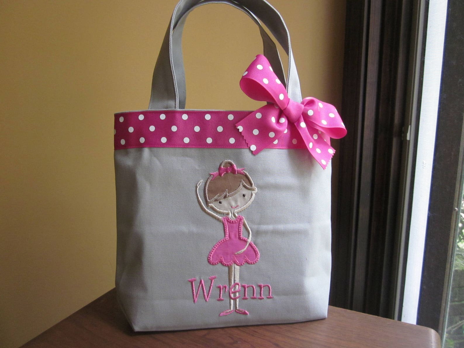 tote bag darling ballet dancer toddler or big kid dance bag