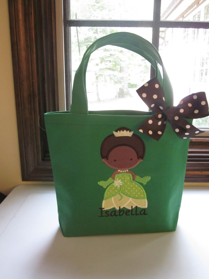 TOTE BAG Princess and the Frog Tiana Personalized Toddler or Big Kid Tote