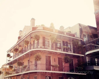 new orleans art french quarter photography building architecture louisiana art orange home decor