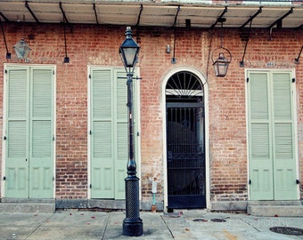new orleans art door photography blue home decor french quarter architecture new orleans photography street lamp post