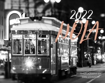 2022 New Orleans Wall Calendar, Monthly Planner,  Nola Photography Travel Art