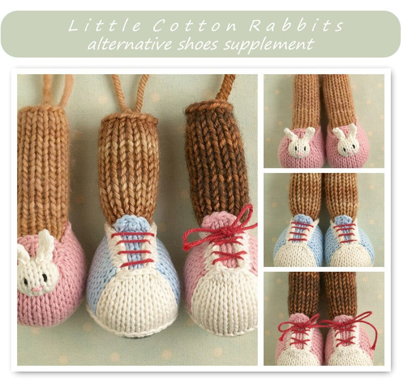 Toy knitting pattern for Little Cotton Rabbit animals image 0