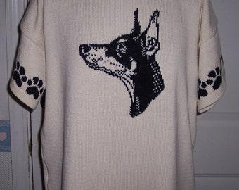 Doberman Sweater Etsy
