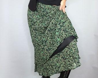 Vintage 90s swirly forest fairy skirt