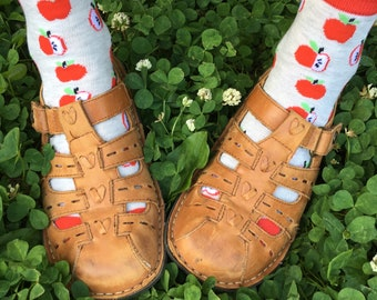 Vintage Alegria Mori girl butterfly sandals leather shoes 6.5-7