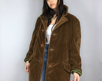 Vintage 70s Narnia coat corduroy faux fur winter coat