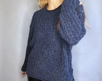 Vintage 90s denim look sweater by RedHead