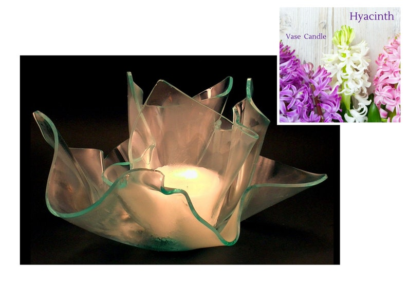 Hyacinth Vase Candle Set  2 Candle Refills  Clear Satin image 0
