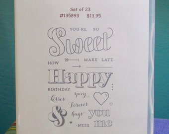 NEW!! RARE!! Stampin' Up! Countless sayings 2 retired photopolymer stamp set (23)