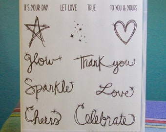 NEW!! Stampin' Up! Love Sparkles retired photopolymer stamp set (13)