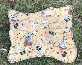 Pirate Treasure Map - Cloth Pirate Map - Play Pirate Map - Pirate Treasure Map - Toy Pirate Map - Pretend Pirate Map - Pirate Placemat - Map