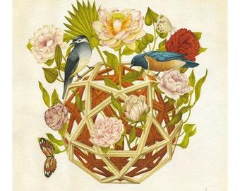 Geometric art print - Perspectiva - Limited Edition 50 Giclee print