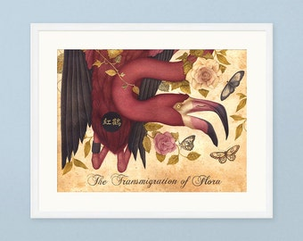 The Transmigration of Flora - Limited Edition Print - Pink Flamingo Print