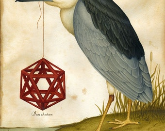 Geometric art print - Platonic Solids 1 - Limited Edition Print - Watercolor painting