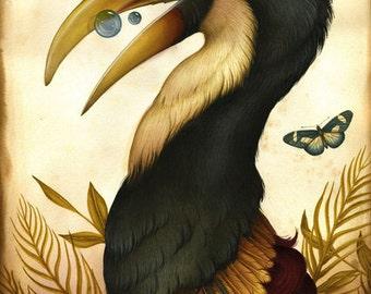 Bird Art Print - Augmentations 2 - Ltd Edition Giclee Print, poster, print