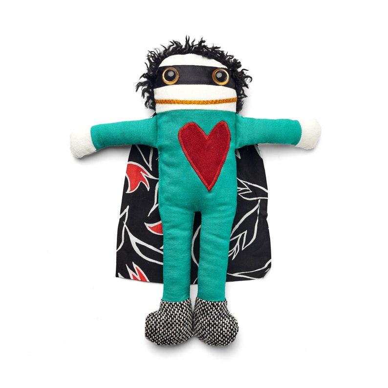 Tim the Superhero  Handmade plush Baby lovey  Rag doll image 0
