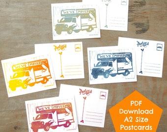We've Moved, Vintage Palette, PDF DIGITAL DOWNLOAD