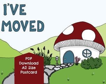 I've Moved, Toadstool PDF DIGITAL DOWNLOAD