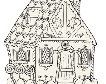 Gingerbread House Coloring Placemat
