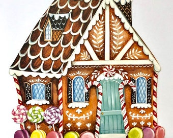 Gingerbread House placemat by Elizabeth Foster and Hester& Cook