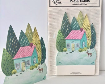 Winter Village Table Accent pack of 12 by Elizabeth Foster