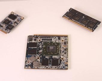 Bits and Bytes Computer Geek Refrigerator Magnet Set (BLUE)