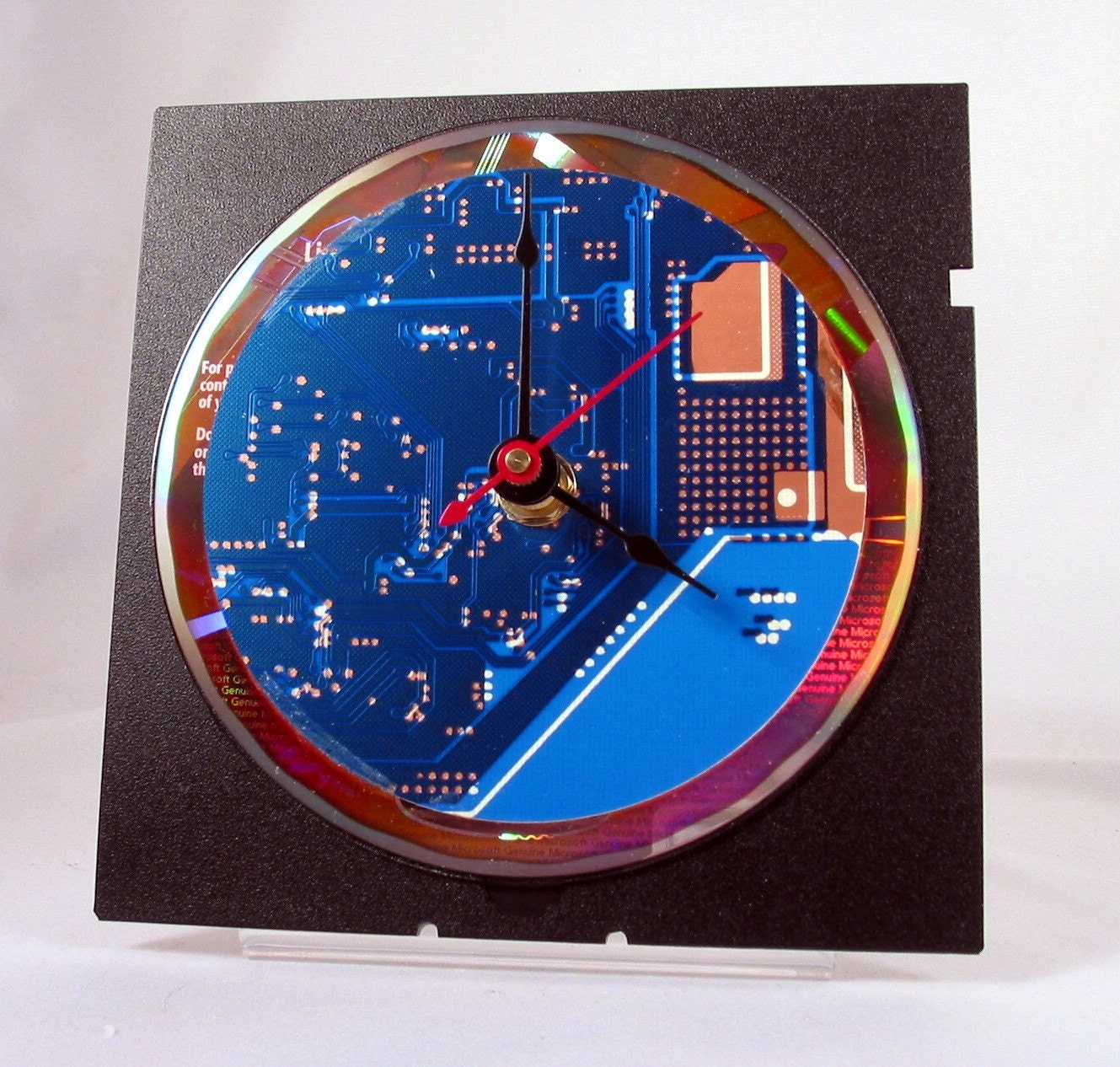 Computer Circuit Board Desk Clock Blue Green Picture Frame By Robyriker Zoom
