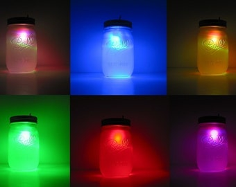 Color Changing Rainbow Mason Jar Night Light