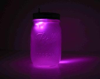Lavender Mason Jar Night Light