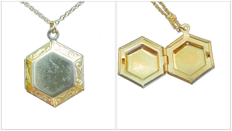 The Hexagon Locket Necklace image 0