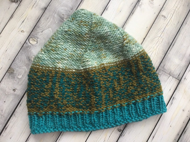 Women Knit WooDLaND HAT Ladies Multicolor Wool CAP Teal Olive Mint BoHo Girl LeAVeS BeANiE Colorful Winter ToQUE Hand Dyed Painted Yarn