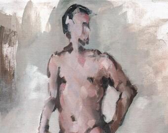 Oil Painting Figurative - 16x12 Male Nude Figure Study