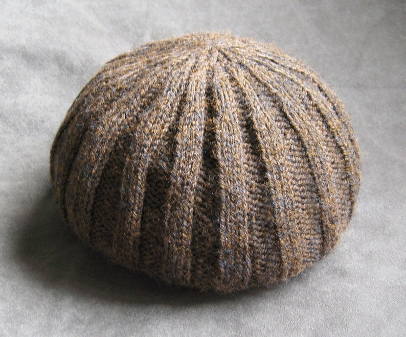 Pattern Rib Knit Boyfriend Hat image 1
