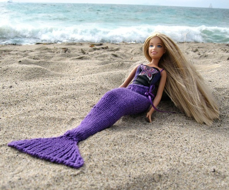 Pattern Knit Mermaid Tail for Dolls image 1