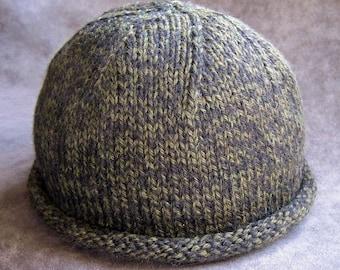 Pattern, Rolled Brim Boyfriend Hat, knit