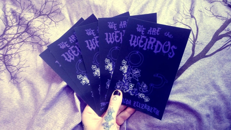 Postcards  Set of 5  Cover of We Are the Weirdos image 0