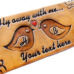 Personalized Luggage Tag Leather Custom Fly Away With Me
