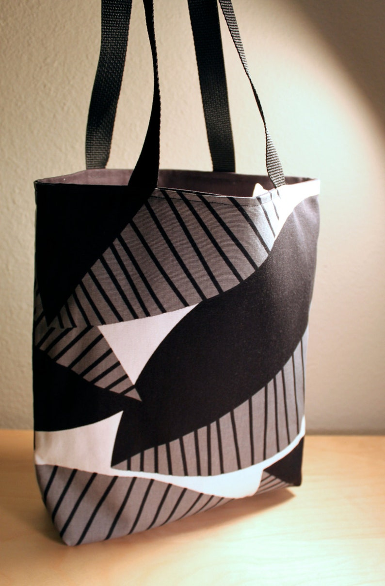 Black Leaf Tote Bag image 0