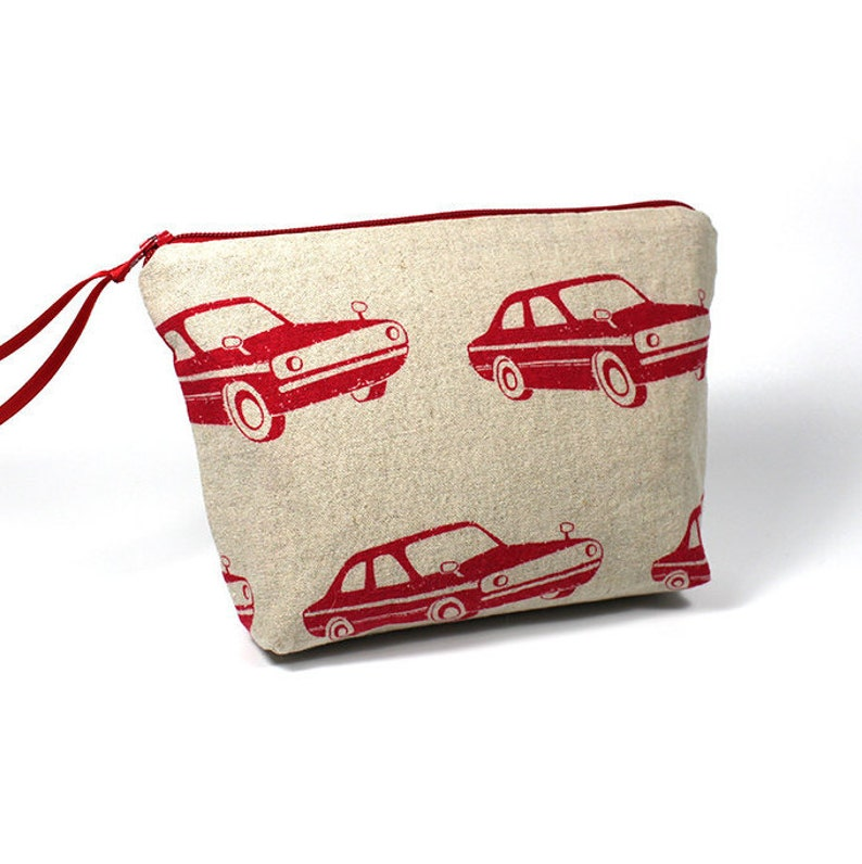 Red Muscle Car Zipper Pouch image 0