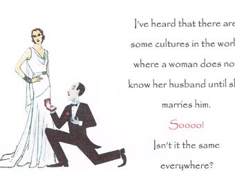 Know Your Husband from Tongue in Cheek series of postcards 593