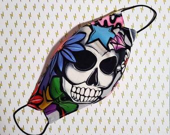 Face Mask 'Hide n Skull' Cotton Masks Face Covering