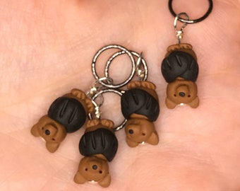 Bat Stitch Markers - Colony of 4